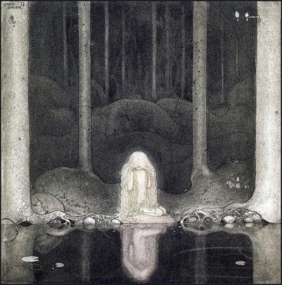 Princess Tuvstar still stares at the water looking for her heart' by John Bauer, 1913